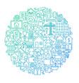 real estate line circle design vector image