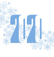 2020 snowflake vector image vector image