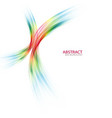 abstract colorful rainbow wave on white background vector image vector image