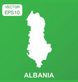 albania map icon business concept albania vector image vector image