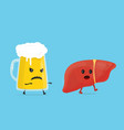 alcohol kill liver stop drink concept glass vector image vector image