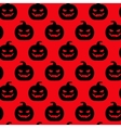 Autumn halloween pumpkin seamless pattern vector image