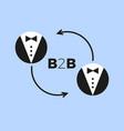 b2b icon vector image vector image