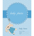 baboy arrival card with frame vector image vector image