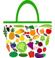bag with fruits and vegetables vector image