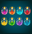 big set with elixir different in magic smoke vector image vector image