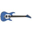 Blue electric guitar vector image
