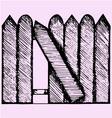 broken fence vector image