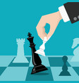business checkmate strategy concept with vector image vector image