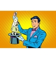 Businessman magician and Bunny money vector image vector image