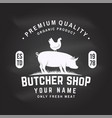 butcher shop badge or label with beef pork pig vector image vector image
