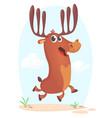 cartoon running deer vector image vector image