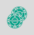 casino chips icon vector image vector image