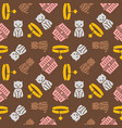 cat and dog themeseamless pattern for wallpaper vector image vector image