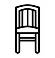 chair line icon stool vector image