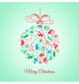 Christmas ball of the elements of an abstract vector image vector image