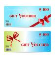 Christmas gift voucher or gift card template vector image vector image