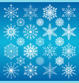 christmas snowflakes on a blue background vector image vector image