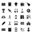 classroom accessories glyph icons pack vector image vector image