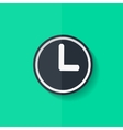 Clock web icon button Time symbol Flat design vector image vector image