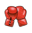 color boxing gloves icon vector image vector image