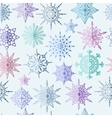 Colored snowflake seamless pattern vector image vector image
