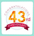 colorful polygonal anniversary logo 3 043 vector image vector image