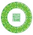 Colorful round ornamental frame