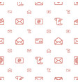 correspondence icons pattern seamless white vector image vector image