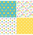 cute seamless spring background patterns vector image