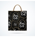 Easter paper bag with shadow vector image vector image