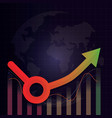 economic recovery l u shape after covid-19 crisis vector image vector image