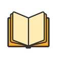 Education open book icon vector image vector image