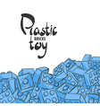 Elements of plastic constructor vector image