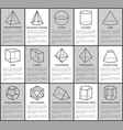 figures set sphere and cone cube and cuboid vector image vector image