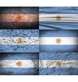 Flag of Argentina with old texture vector image