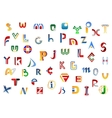 Full alphabet letters set vector image vector image