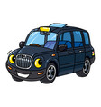 funny small taxi car or london cab vector image vector image