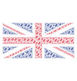great britain flag mosaic of leaf branch icons vector image vector image