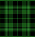 green and black tartan plaid seamless pattern vector image vector image