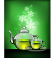 green tea vector image vector image