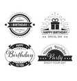 greeting cards decor happy birthday cup print vector image vector image