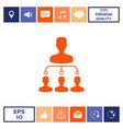 hierarchy icon symbol vector image