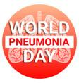 international pneumonia day concept background vector image vector image