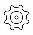 isolated gear vector image vector image
