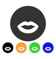 kiss smiley icon vector image