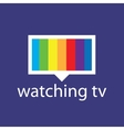 logo with a spectrum in tv screen vector image