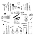 Make up set vector image
