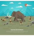 Mammoth Hunting vector image vector image