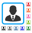 manager framed icon vector image